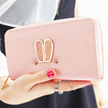 2016 New Arrivals Women Long Wallet Korean Fashion Sweet Cute Rabbit ears Single Zipper Ladies Coin Purses Carteira Feminina