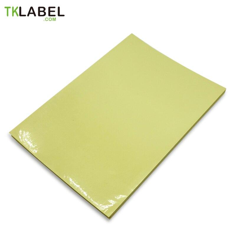 60 hojas A4 claro etiqueta engomada de la etiqueta láser/impresora de inyección de tinta de la transparencia impermeable película de PET resistencia al rayado.