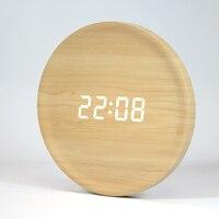 Led Electronic Wood Clocks Wall Home Decor Voice Control Wall Clock Modern Design Nixie Clock Decoracion Hogar Moderno 50KO569