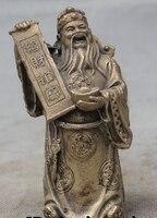 """4 """"Chiński Feng Shui Biały Miedź Pomyślny Wealth YuanBao Pieniądze Bóg Statua Ogród Dekoracji Brązu Mosiądzu w Posągi i rzeźby od Dom i ogród na"""