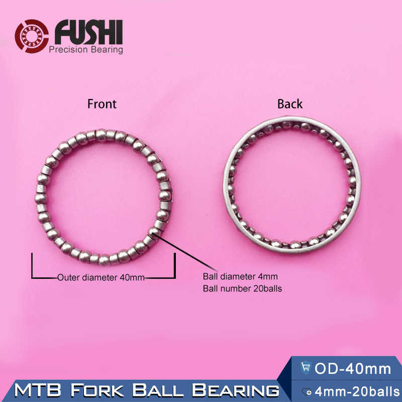 MTB Fork Ball Bearing OD 40mm (8Pcs) ABEC-1 / Bowl Set Of Pearl Balls / Ball Bearing Accessories / Bicycle Handlebar Bead Frame