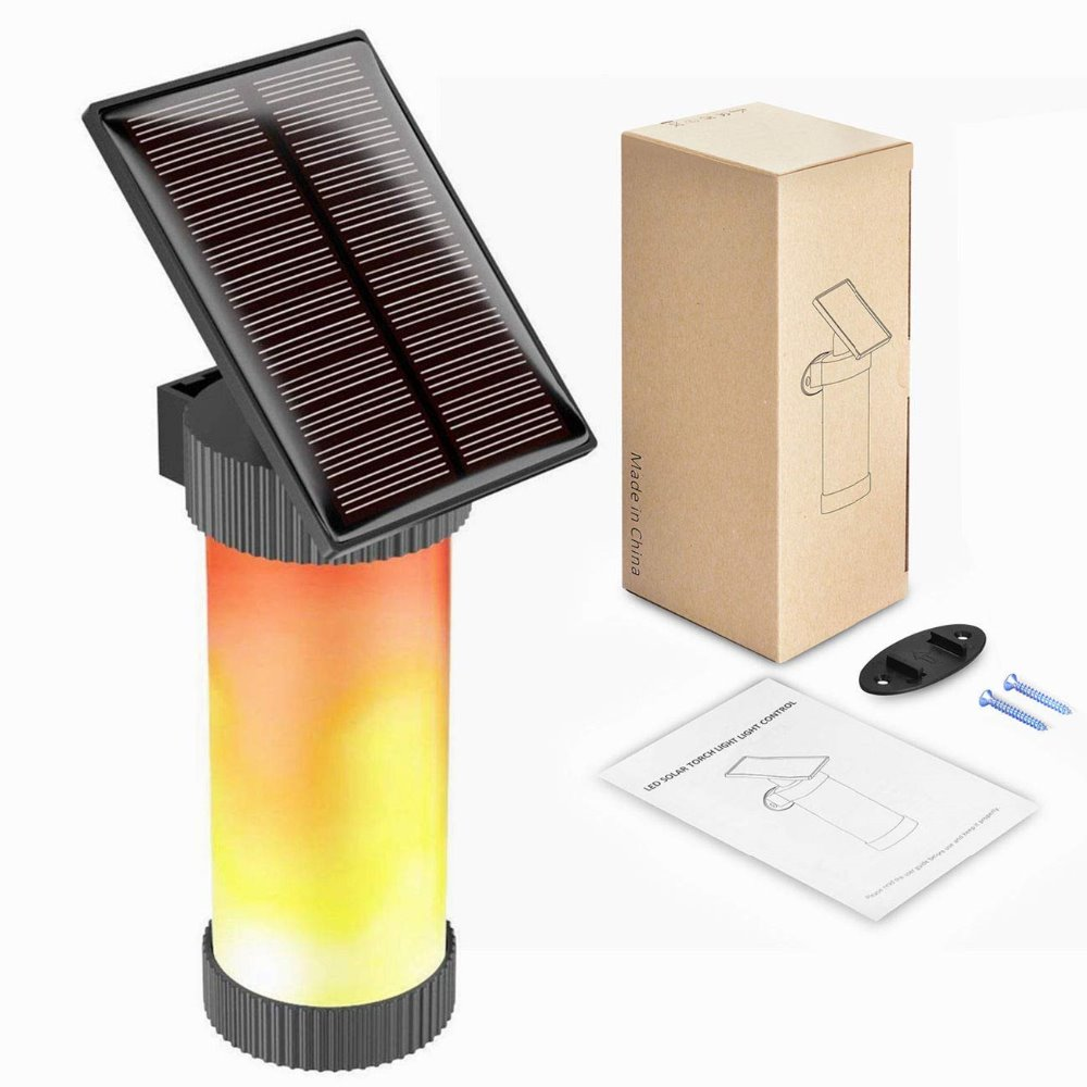 Us 1 99 20 Off 3mode Solar Camping Light Flame Wall 2835smd Led Outdoor Waterproof Dark Sensor For Yard Bench Pathway Garden And Stickers In