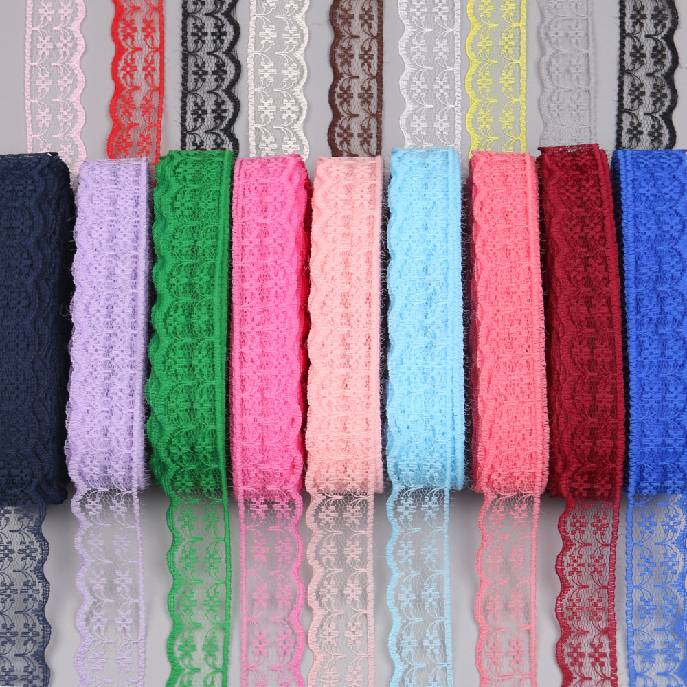NEW ARRIVAL AFRICAN lace ribbon 10 yards/lot 20 mm wide DIY accessory 17 color embroidery lace fabric wedding party decoration