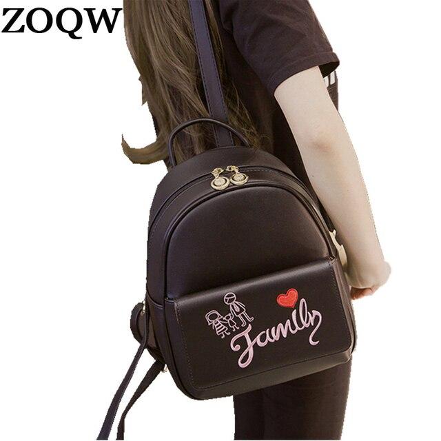 2018 Korea PU Leather Backpack Women Backpacks For Teenagers Girls Women  Backpack Schoolbag Travel Bagpack mochila kanken WYQ291 ce8adf6a08