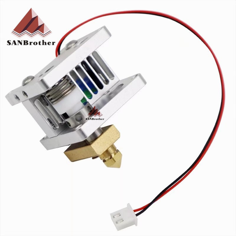 Ultimaker 2 Extended+ UM2+ Olsson block nozzle kit with Heat Sink hotend header kit for DIY 3D printer 1.75/3mm filament 3d printer upgrade ultimaker 2 um2 extended olsson block nozzle hot end kit for 1 75 3mm filament heater block whole price