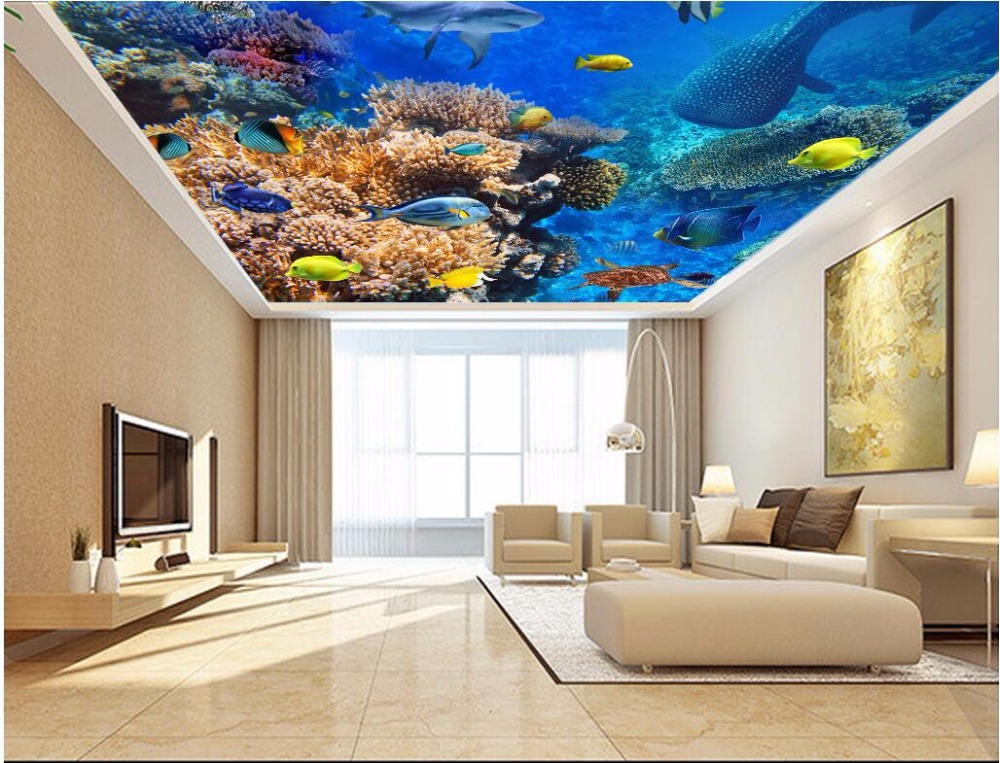 3d Ceiling Murals Wallpaper Custom Photo Beautiful