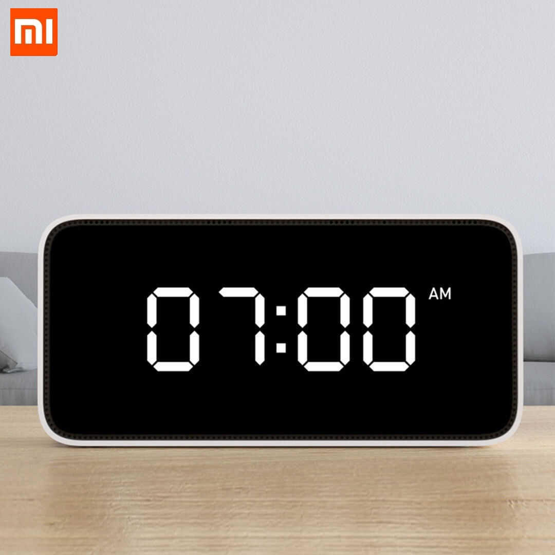 Xiaomi Xiaoai Smart Voice Control Alarm Clock 30 Dynamic Alarm Clocks Radio Voice Reminder Dersktop Clocks Work With Mijia APP image