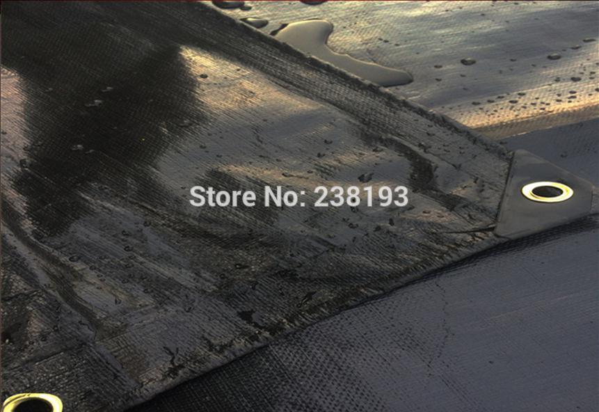 Custom Size 4x8m Black Waterproof Tarp, Rainproof ,dustproof Canvas. Cars, Trucks Waterproof Cover Cloth.