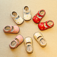 2017 New Arrival Genuine Leather baby Moccasins Toddler Infant Newborn Babies Shoes Soft Bottom leather Prewalkers flat shoes