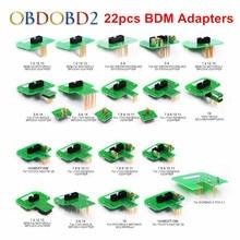 Лучшее качество 22 шт. BDM Адаптеры KTAG KESS KTM Dimsport BDM зонд адаптеры полный комплект светодиодный BDM Рамка ECU рампы адаптеры DHL бесплатно
