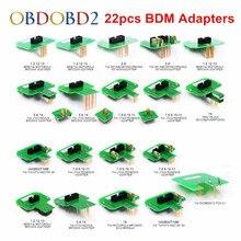 최고의 품질 22pcs BDM 어댑터 KTAG KESS KTM Dimsport BDM 프로브 어댑터 풀 세트 LED BDM 프레임 ECU RAMP 어댑터 DHL 무료