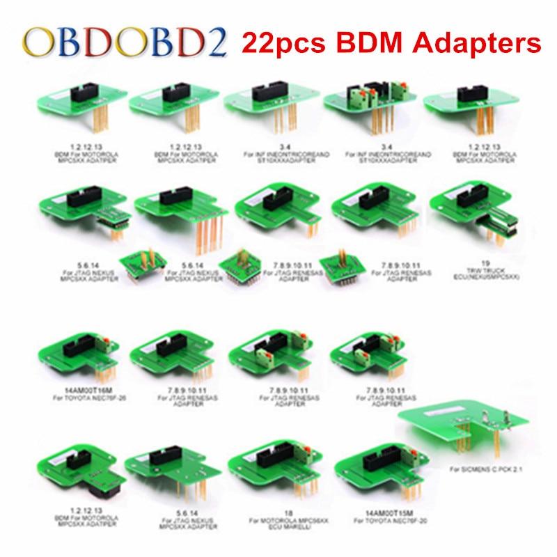 Melhor Qualidade 22pcs Adaptadores BDM KTAG KESS KTM Dimsport Sonda BDM Adaptadores Conjunto Completo LEVOU Quadro BDM ECU RAMPA adaptadores DHL Grátis