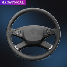 Auto Braid On The Steering Wheel Cover for Mercedes Benz E-Class W212 E 200 260 300 2009-2013 Interior Car