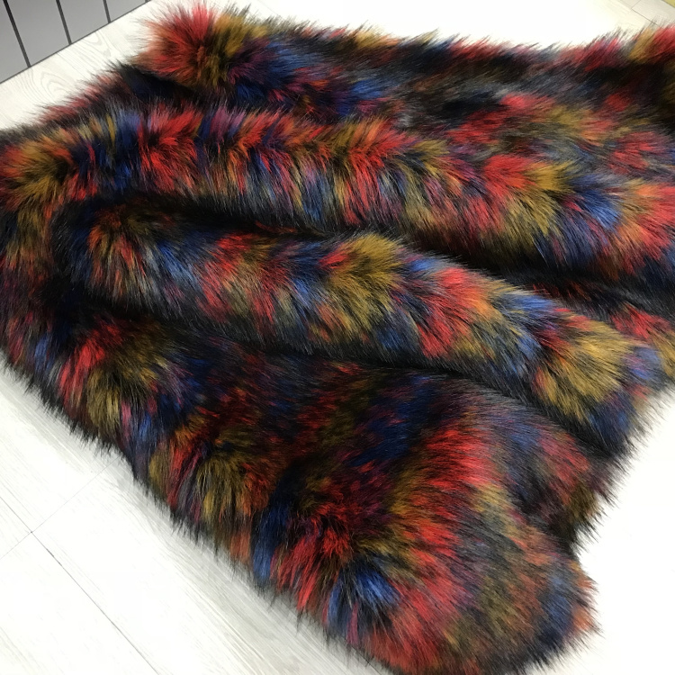 Fourrure de raton laveur imitation tissu peluche épais de haute qualité, tissu en feutre, matériau du col de fourrure, 160*45 cm (demi-cour)/pcs