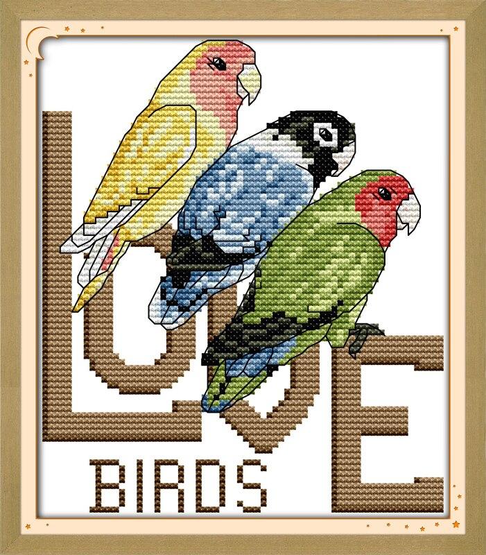 Бесплатная схема вышивки крестом попугаи