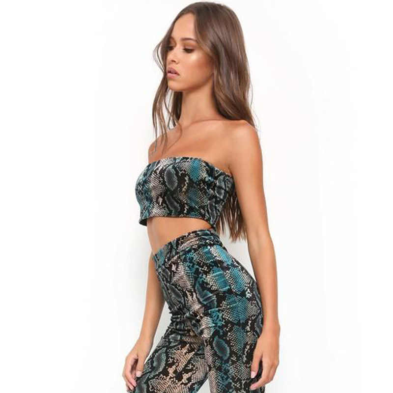 909640e38be4ae ... OneBling Summer Fashion Animal Skin Print Strapless Top Snakeskin Off  Shoulder Sleeveless Crop Tops Stretch Women ...
