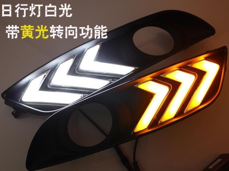 Osmrk Сид DRL дневного света для Nissan доработанный sylphy сентра 2012-2015, с желтый сигнал поворота, переключатель беспроводной связи