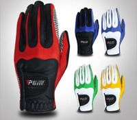 PGM Genuine Leather Golf Gloves Men's Left Right Hand Soft Breathable With Anti slip granules Golf Gloves Golf Men
