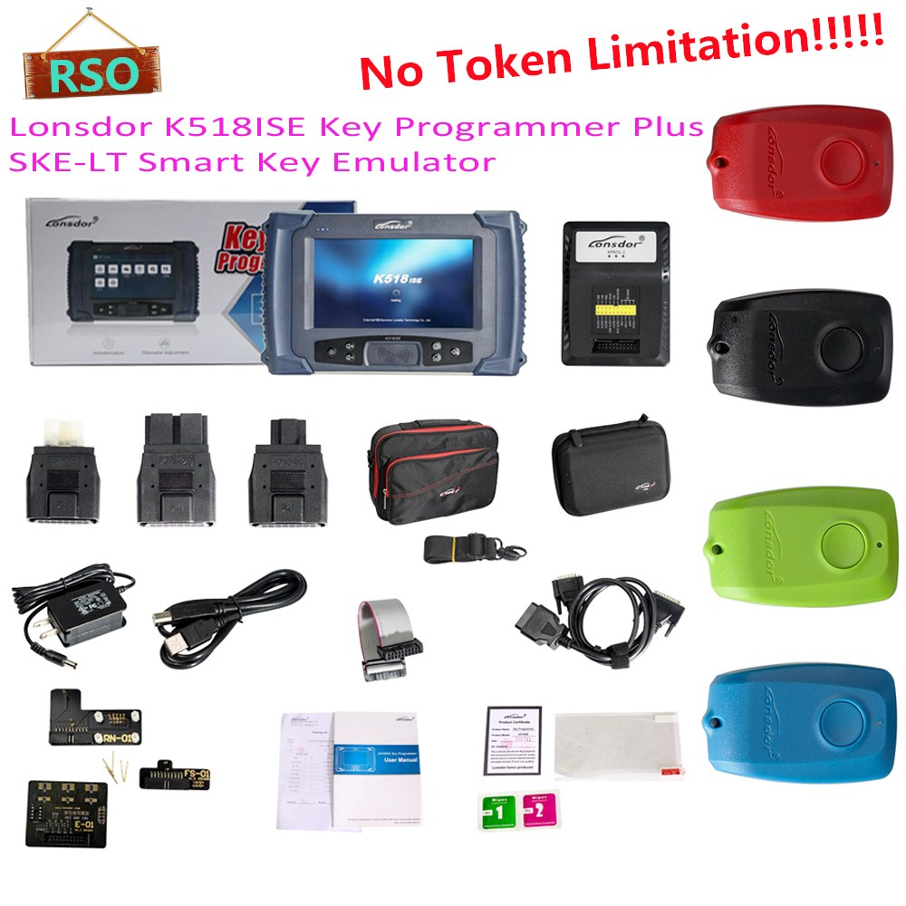 Newest lonsdor k518ise Auto Key Programmer With Odometer Adjustment For All Makes K518 ISE Free For