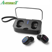 AMTERBEST TWS Mini Wireless Bluetooth 5.0 Earphones Stereo EarbudS Headset Headphones with Charging Case Mic for Iphone Xiaomi(China)