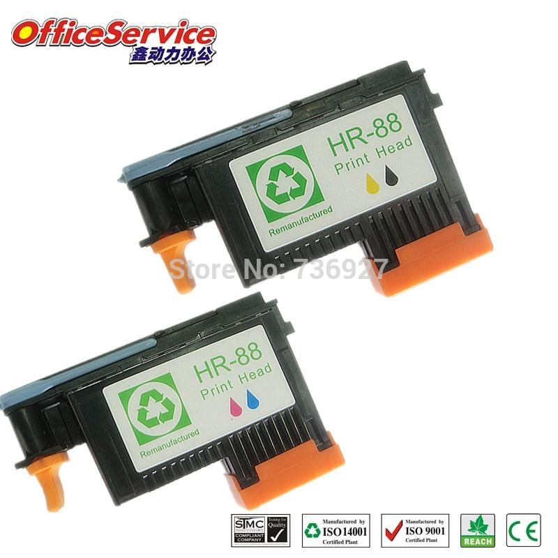 A+ QUALITY one set 88 Printhead, for hp 88 Printer head C9381a,9382a for HP L7580 7590 K5400 K550 printer
