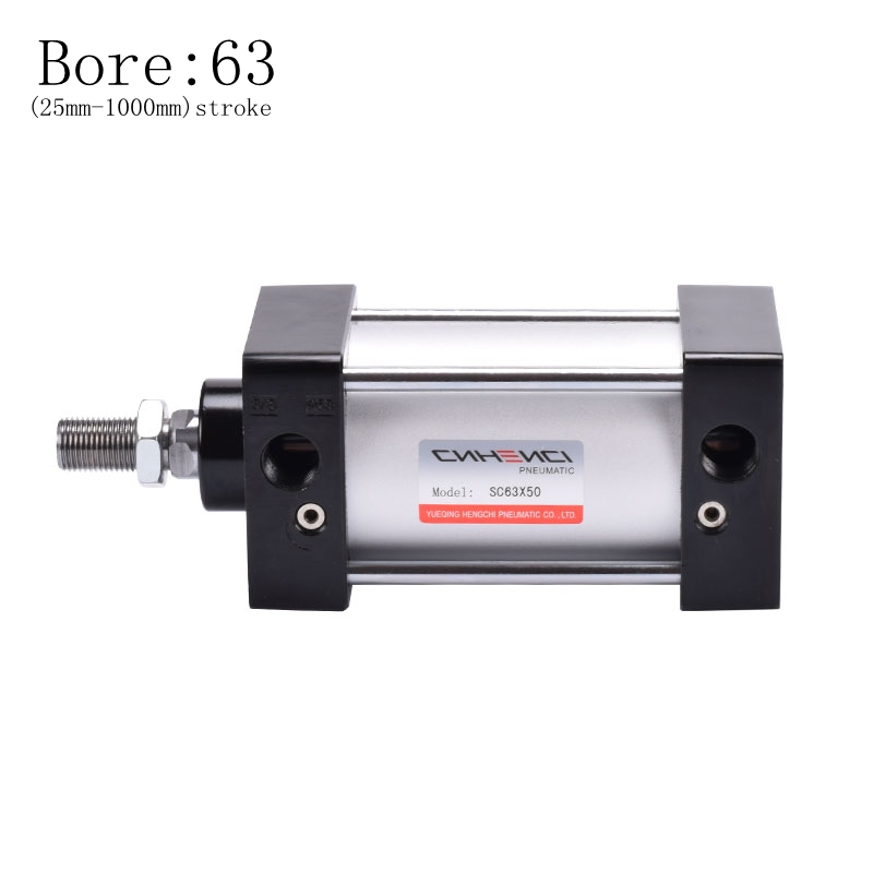 SC Series Cylinder SC 63mm Bore (25mm-1000mm) Stroke Single Rod Standard Pneumatic Parts embroidered bodice frilled dress