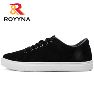 Image 4 - ROYYNA New Popular Style Men Casual Shoes Lace Up Men Flats Shoes Microfiber Comfortable Hombres Zapatos Slip On Free Shipping