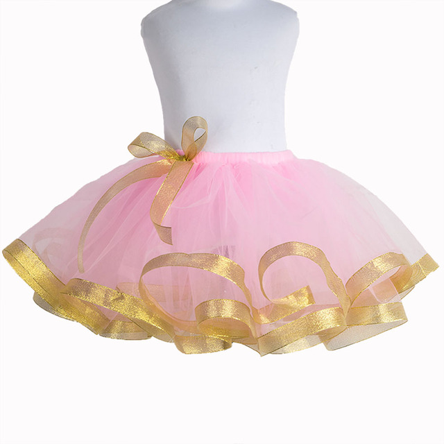 Fluffy Kids Girls Tutu Skirt Pink Pettiskirt Baby Tulle Skirt Birthday Party Tutus Cute Petticoat Girls Skirts 2-12Y