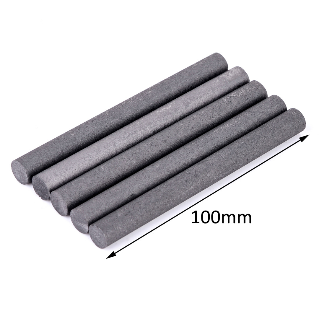 5pcs High Purity 99.99% Graphite Rod Black Electrode Cylinder Rods Bars 100x10mm For Industry Tools 5pcs 100mm length graphite rod 10mm diameter electrode cylinder rods bars black for industry tools