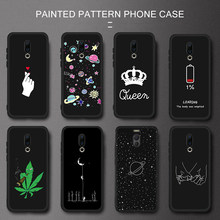 Black Pattern TPU Case For Meizu Note 9 8 16th 16 Plus Silicone Love Heart Painted Matte Cover For Meizu M6 M5 Note M5C 5S Capa(China)