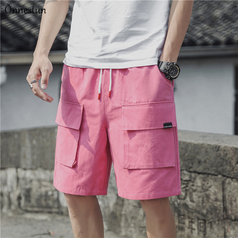 Onnestun Streetwear Shorts Plus-Size Hip-Hop Men's Casual New Fashion Big Pocket-Design