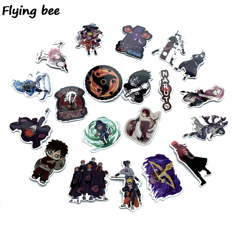 Image 2 - Flyingbee 70 Pcs Naruto Japanese anime Graffiti Stickers for Kids DIY Luggage Laptop Skateboard Car Waterproof Sticker X0214-in Stickers from Consumer Electronics