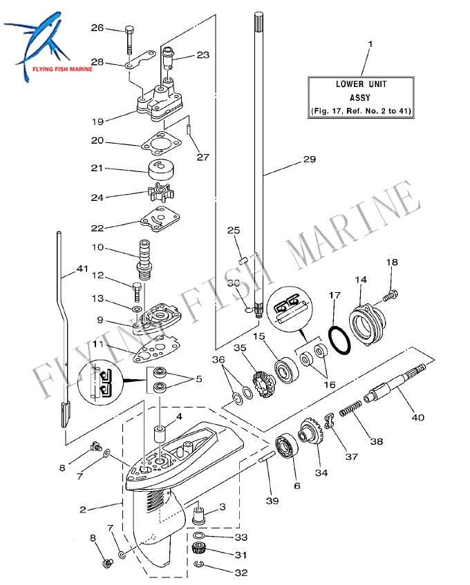 Boat Motor 68d G5611 10 Outboard Engine Propeller Shaft For Yamaha 4