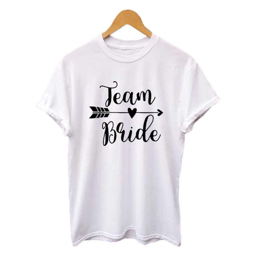 279b5c289d4a ... Team Bride T-shirt Hipster Wedding Party Funny Saying Tshirt Letters  Printing Tees Summer Black ...