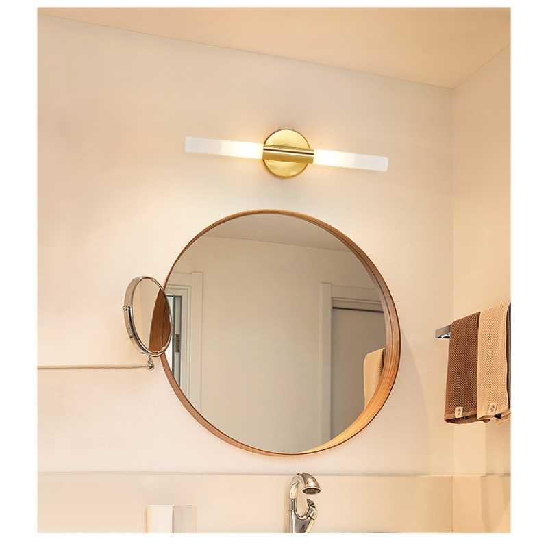 Metall LED Led Wand Licht Wohnzimmer Dekoration Schlafzimmer Leuchte Bad Spiegel Licht Wand Montiert Beleuchteten Make-Up Spiegel
