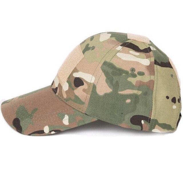 3a04b003c0e37 Gorra militar de camuflaje Tatical Airsoft Paintball exterior caza béisbol  gorras hombres Multicam soldado combate sol