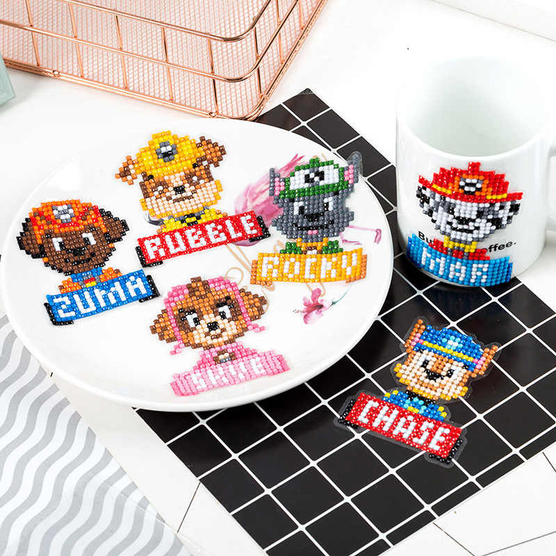 Children's Diamond Stickers Handmade Diy Production Kindergarten Free Stickers Puzzle Cartoon Full Diamond