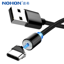 NOHON Strong Magnetic Cable Micro USB Type C For Apple iPhone X XS MAX XR 8 IOS 12 Fast Charging Andriod Phone Magnet Cables 1M