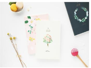 Floral design cute Korean stationery 6 months study planner book 14.8*21cm 176P business fashion 2018 pocket journal weekly planner 176p korean fashion stationery