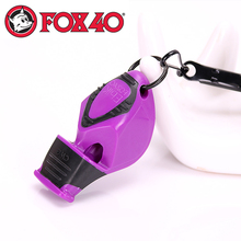 FOX40 professional soccer football referee Whistle with lanyard Emergency Survival plastic whistle