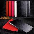 De negócios de luxo Folding Stand Case para iPad Mini 2 3 Smart Cover para iPad Mini 1 2 3 PU couro proteja Fundas de fábrica por atacado