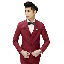 2017 Latest Coat Pant Designs Burgundy Wedding Suits for Men Slim Fit 3 Piece Tuxedo Prom Custom Groom Blazer Terno Masculino Z7