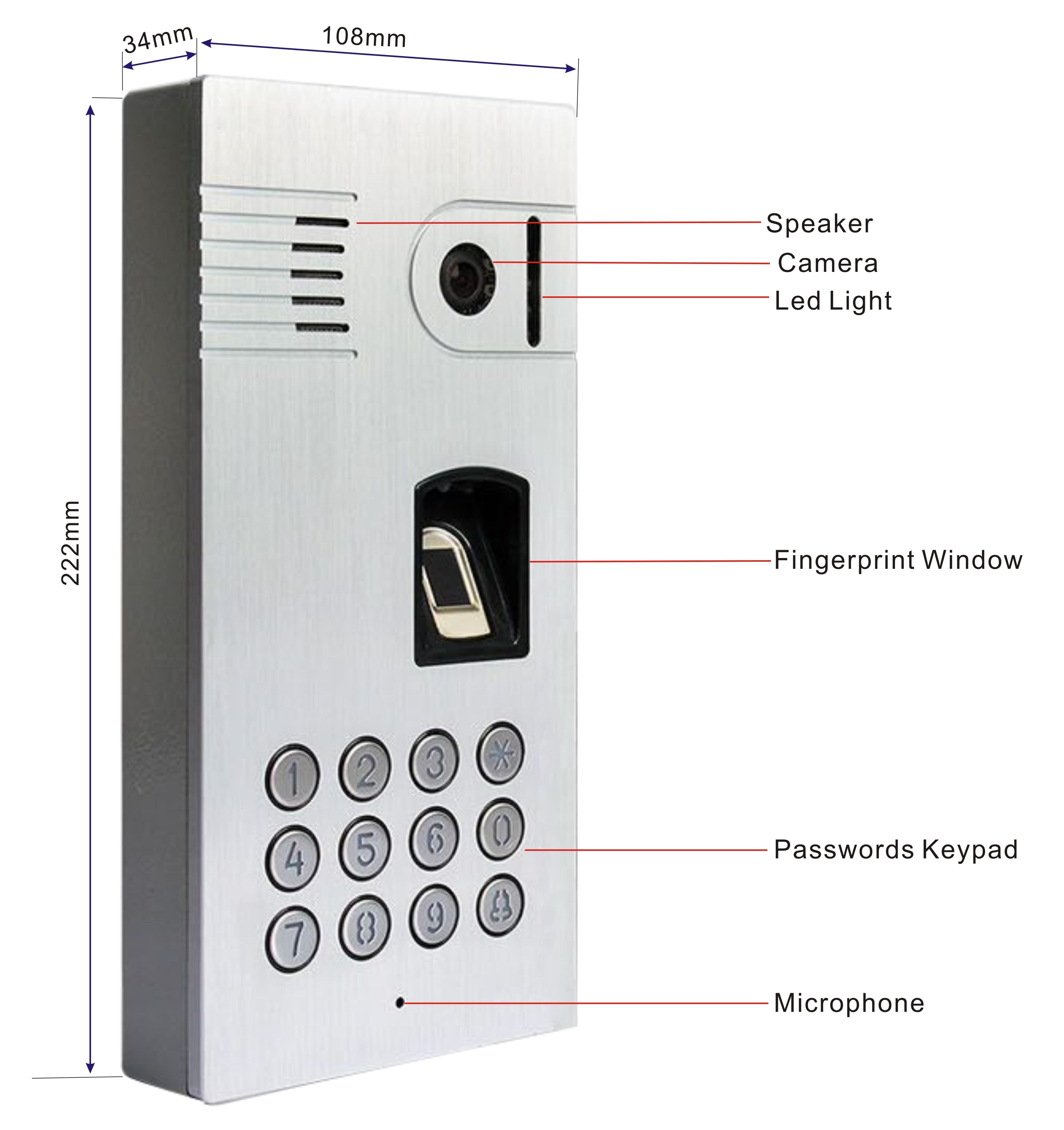 ツ ¯Mundial huella digital video puerta teléfono táctil WiFi