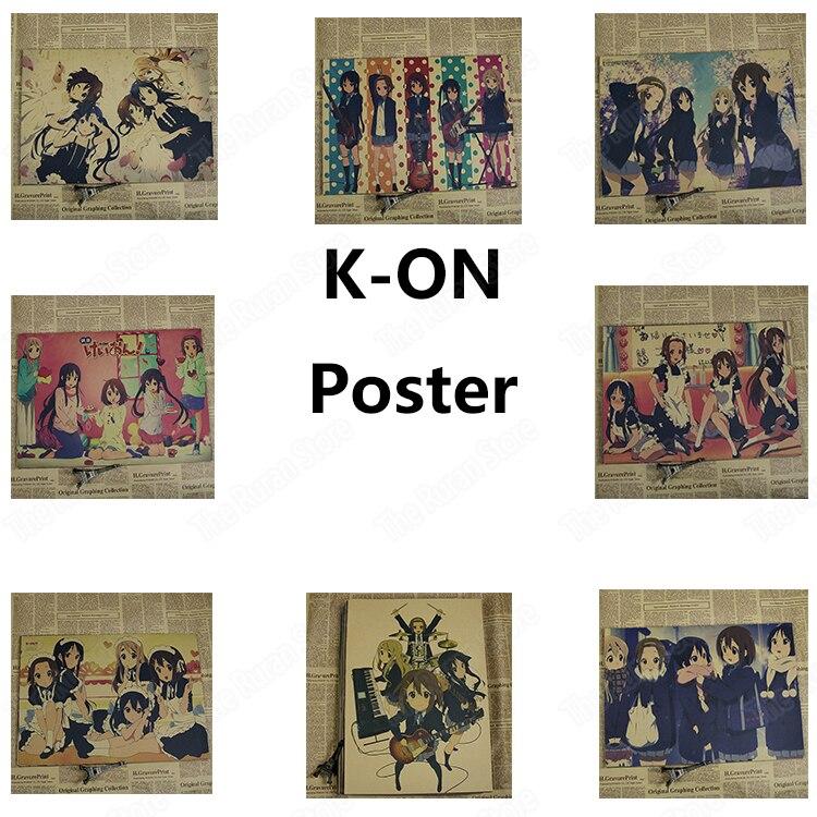 k on kraft poster wall sticker japanese anime hirasawa yui