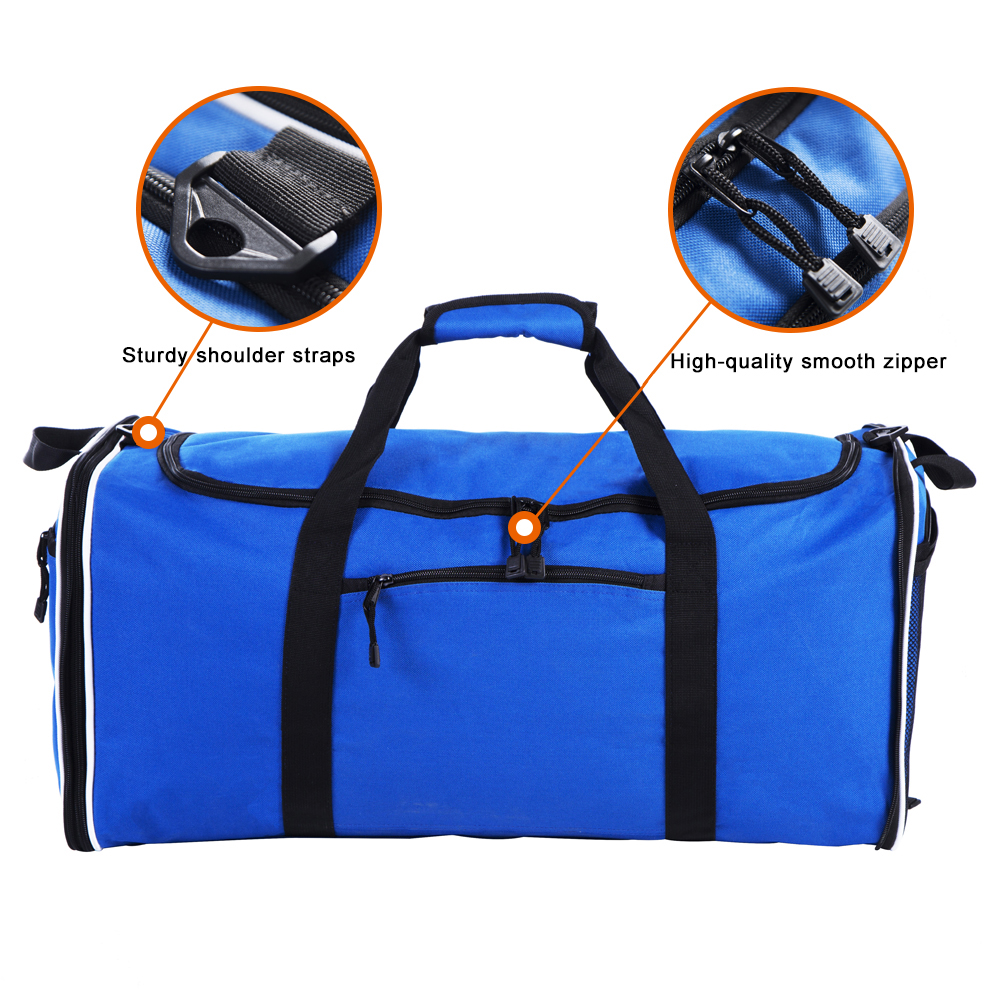 Flyone LARGE TRAVEL DUFFLE Bag Polyester Travel Duffel Bags Foldable Bag 11x12.5x25 inch with 57L capacity Single Shoulder Strap