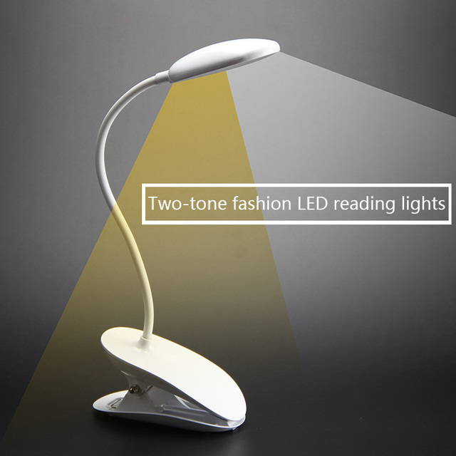 Usb Flexible Clip Led Desk Lamp Modern 5v Bed Room Book Reading With Warm Yellow