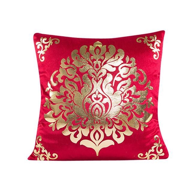 Top Quality Gold velvet pillow cover  Waist Throw Cushion Pillow Cover  45x45cm Ouneed