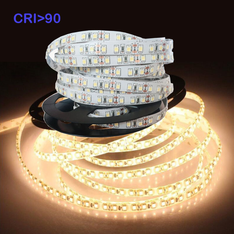 CRI + 90 5m 600 LED 2835  Highlighted LED Strip 5m,24V 12V Flexible Light 120 LED/m High Brightness LED Strip White/Warm White