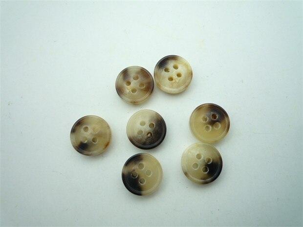 Free shipping 20pcs/lot High-grade yellow black decorative dichroic yak horn cashmere coat pad button shirt collar button 11.5mm
