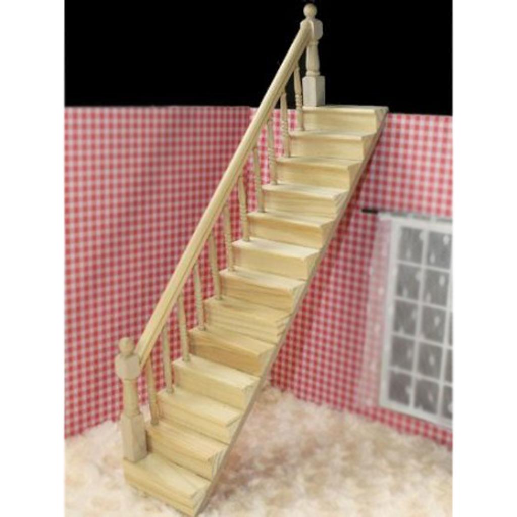 mach mejor venta casa de muecas de madera escalera con baranda izquierda pre